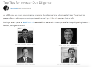 Top Tips for Investor Due Diligence